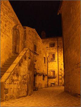 Stone Town of Civita at Night