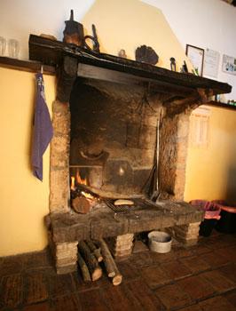 Felice's fireplace