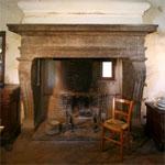Renaissance fireplace, Sala Grande, Civita. Photo by Betty Torrell